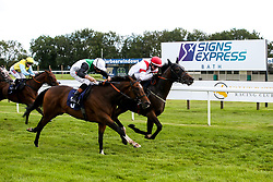 Clem A ridden by Rob Hornby trained by M F Harris wins the attheraces.com Handicap - Mandatory by-line: Robbie Stephenson/JMP - 06/08/2020 - HORSE RACING - Bath Racecourse - Bath, England - Bath Races