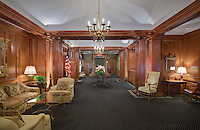Architectural interior image of the University Club in Washington DC by Jeffrey Sauers of Commercial Photographics, Architectural Photo Artistry in Washington DC, Virginia to Florida and PA to New England