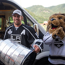 20140713: SLO, Ice Hockey - NHL Champion Anze Kopitar of LA Kings again with Stanley Cup in Slovenia
