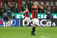 """Delusione Mario Yepes Milan<br /> Milano 07/10/2012 Stadio """"San Siro""""<br /> Football Calcio Serie A 2012/13<br /> Milan v Inter<br /> Foto Insidefoto Paolo Nucci"""