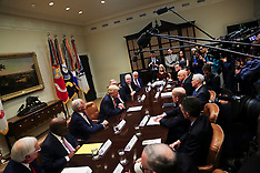 US President Donald Trump meets with health insurance company CEO's 27 Feb 2017