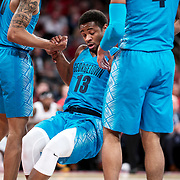 January 9, 2018, New York, NY : Georgetown's Trey Dickerson(13) is helped up off the floor during Tuesday night's matchup between the Hoyas and Red Storm at Madison Square Garden. In something of a rematch of their 1985 contest, Basketball greats Patrick Ewing and Chris Mullin returned to Madison Square Garden on Tuesday night to face off as coaches with their respective Georgetown and St. John's teams.  CREDIT: Karsten Moran for The New York Times