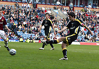 Photo: Paul Greenwood/Richard Lane Photography. <br />Burnley v Cardiff City. Coca-Cola Championship. 26/04/2008. <br />Cardiff's Tony Capaldi scores the third goal for Cardiff