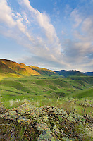 Green hills above the Imnaha River Canyon, Hells Canyon Recreation Area Oregon