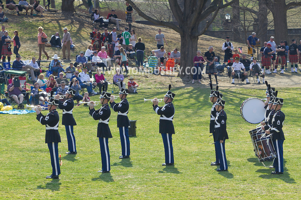 West Point, New York - The United States Military Academy Hellcats perform at the 32nd annual West Point Military Tattoo at Trophy Point on April 13, 2014.