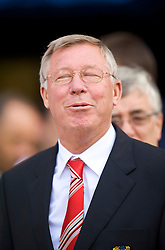 WIGAN, ENGLAND - Saturday, August 22, 2009: Manchester United's manager Alex Ferguson before the Premiership match against Wigan Athletic at the DW Stadium. (Photo by David Rawcliffe/Propaganda)