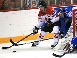 Shane Doan of Canada fighting for the puck with Sami Lepisto of Finland at ice-hockey game Canada vs Finland at Qualifying round Group F of IIHF WC 2008 in Halifax, on May 12, 2008 in Metro Center, Halifax, Nova Scotia, Canada. Canada won. (Photo by Vid Ponikvar / Sportal Images)