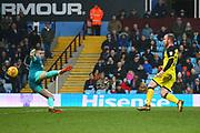 Burton Albion's Liam Boyce scores a goal, 2-3 during the EFL Sky Bet Championship match between Aston Villa and Burton Albion at Villa Park, Birmingham, England on 3 February 2018. Picture by John Potts.