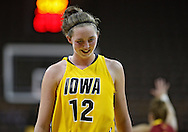 December 09 2010: Iowa center Morgan Johnson (12) during the first half of their NCAA basketball game at Carver-Hawkeye Arena in Iowa City, Iowa on December 9, 2010. Iowa defeated Iowa State 62-40 in the Hy-Vee Cy-Hawk Series rivalry game.