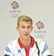 Team GB<br /> Athletics Press Conference, Team GB House, London, Great Britain <br /> 1st August 2012 <br /> <br /> Jack Green <br /> Men's 400m hurdles and 4x400m relay <br /> <br /> Katarina Johnson-Thompson - Heptathlon<br /> <br /> Lawrence Clarke - men's 400m hurdles<br /> <br /> Eilidh Child<br /> Women's 400m hurdles<br /> <br /> Andrew Pozzi<br /> Men's 110m hurdles<br />  <br /> <br /> <br /> Photograph by Elliott Franks