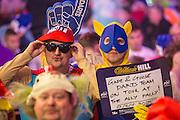Darts fans during the World Darts Championship at Alexandra Palace, London, United Kingdom on 23 December 2015. Photo by Shane Healey.