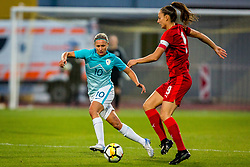 Dominika Conc of Slovenia during football match between Slovenia and Czech Republic in Womens Qualifications for World Championship 2019, on October 20, 2017 in Stadion Domzale, Domzale, Slovenia. Photo by Ziga Zupan / Sportida