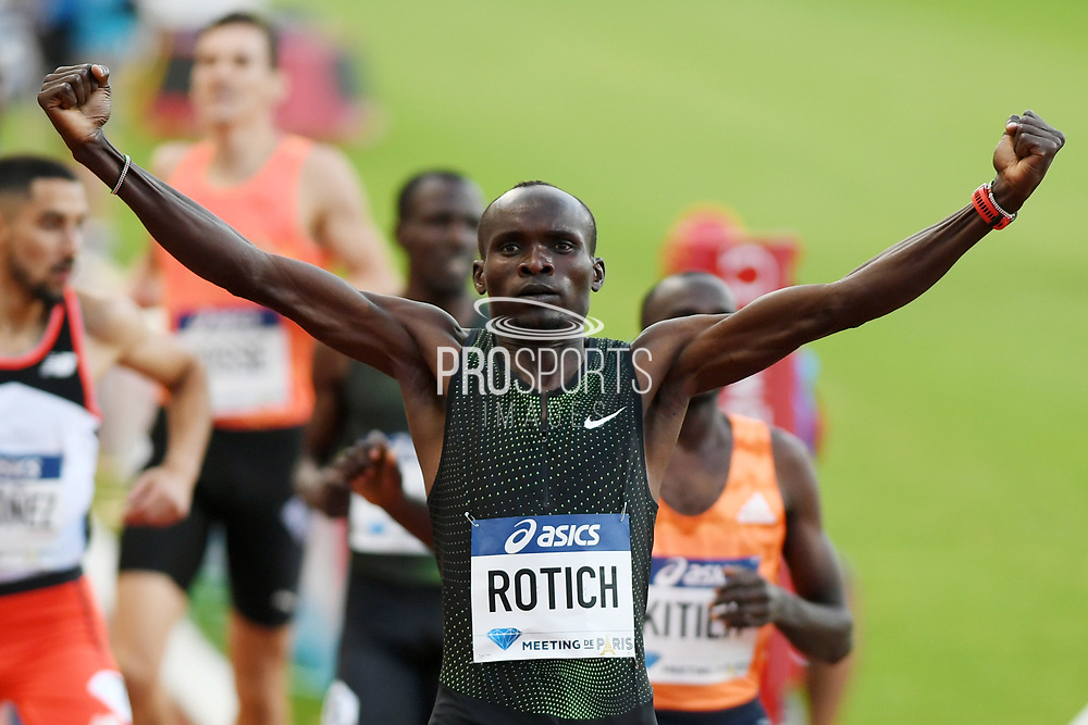 Ferguson Cheruiyot Rotich competes and wins during the Meeting de Paris 2018, Diamond League, at Charlety Stadium, in Paris, France, on June 30, 2018 - Photo Philippe Millereau / KMSP / ProSportsImages / DPPI