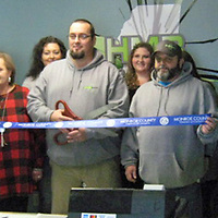 The Monroe County Chamber of Commerce held a ribbon cutting ceremony was held for HMB Graphics, located at 319 Main St. in Amory.