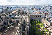 View of Sevilla from cathedral tower (Spain)