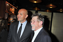 Left to right, BILLY ZANE and JOHN HURT at W London - Leicester Square for the Liberatum Cultural Honour in Spice Market for John Hurt, CBE in association with artist Svetlana K-Lié on 10th April 2013.