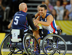 France v Australia - Photo mandatory by-line: Joe Meredith/JMP - Mobile: 07966 386802 - 13/09/14 - SPORT - FOOTBALL - London - Copper Box Arena - Invictus Games Day 3
