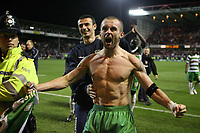 Photo: Rich Eaton.<br /> <br /> Nottingham Forest v Yeovil Town. Coca Cola League 1. Play off Semi Final 2nd Leg. 18/05/2007. Yeovil captain Nathan Jones celebrates victory over Forest