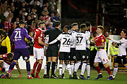 Nottingham Forest midfielder Jack Colback (6) gets involved during the EFL Sky Bet Championship match between Nottingham Forest and Derby County at the City Ground, Nottingham, England on 25 February 2019.