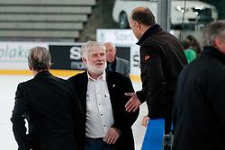 Brane Jersin and Zvone Bolta during ice-hockey friendly match between legends of HDD Tilia Olimpija and HK Acroni Jesenice, on April 14, 2012 at SRC Stozice, Ljubljana, Slovenia. (Photo By Matic Klansek Velej / Sportida.com)