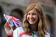 Joanna Rowsell during the Manchester Olympic Parade in Manchester, United Kingdom on 17 October 2016. Photo by Richard Holmes.