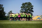 SWIDNIK, POLEN 2017-06-20<br /> Laget samlas under svenska U21 landslagets MD-1 tr&auml;ning p&aring; Stadion Miejski, den 21 juni i Swidnik, Polen.<br /> Foto: Nils Petter Nilsson/Ombrello<br /> Fri anv&auml;ndning f&ouml;r kunder som k&ouml;pt U21-paketet.<br /> Annars Betalbild.<br /> ***BETALBILD***
