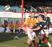Dundee's Paul McGowan and Partick Thistle's Frederic Frans - Dundee v Partick Thistle, SPFL Premiership at Dens Park<br /> <br />  - &copy; David Young - www.davidyoungphoto.co.uk - email: davidyoungphoto@gmail.com