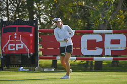 August 23, 2018 - Regina, SK, U.S. - REGINA, SK - AUGUST 23: Cindy LaCrosse (USA) watches her tee shot on 18 during the CP Women's Open Round 1 at Wascana Country Club on August 23, 2018 in Regina, SK, Canada. (Photo by Ken Murray/Icon Sportswire) (Credit Image: © Ken Murray/Icon SMI via ZUMA Press)