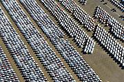 Nederland, Zuid-Holland, Rotterdam, 18-02-2015. Brittaniehaven met terrein van Cobelfret (voorheen Broekman automotive). Opslag en overslag van personenauto's, voorbereiding levering auto's aan dealers in geheel Europa. Onderdeel van Rotterdam Car Terminal (RCT).<br /> Rotterdam Car Terminal (RCT). Storage and handling of cars, preparing delivery of vehicles to dealers.<br /> luchtfoto (toeslag op standard tarieven);<br /> aerial photo (additional fee required);<br /> copyright foto/photo Siebe Swart