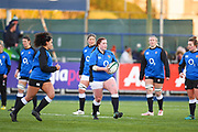 England teams warms up before the game  during the Women's 6 Nations match between Ireland Women and England Women at Energia Park, Dublin, Ireland on 1 February 2019.