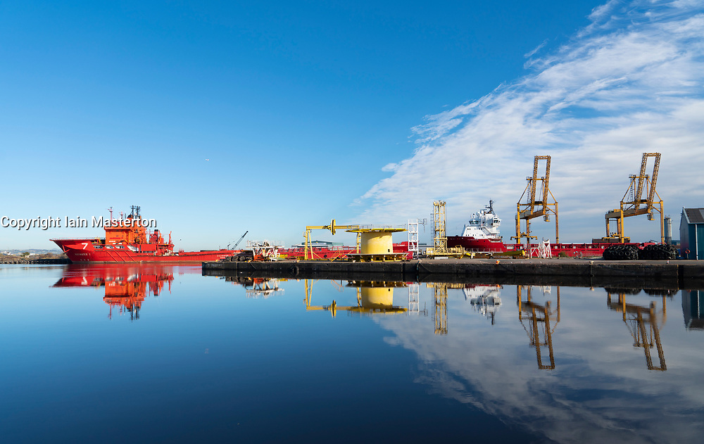 View of Leith docks in Scotland, UK