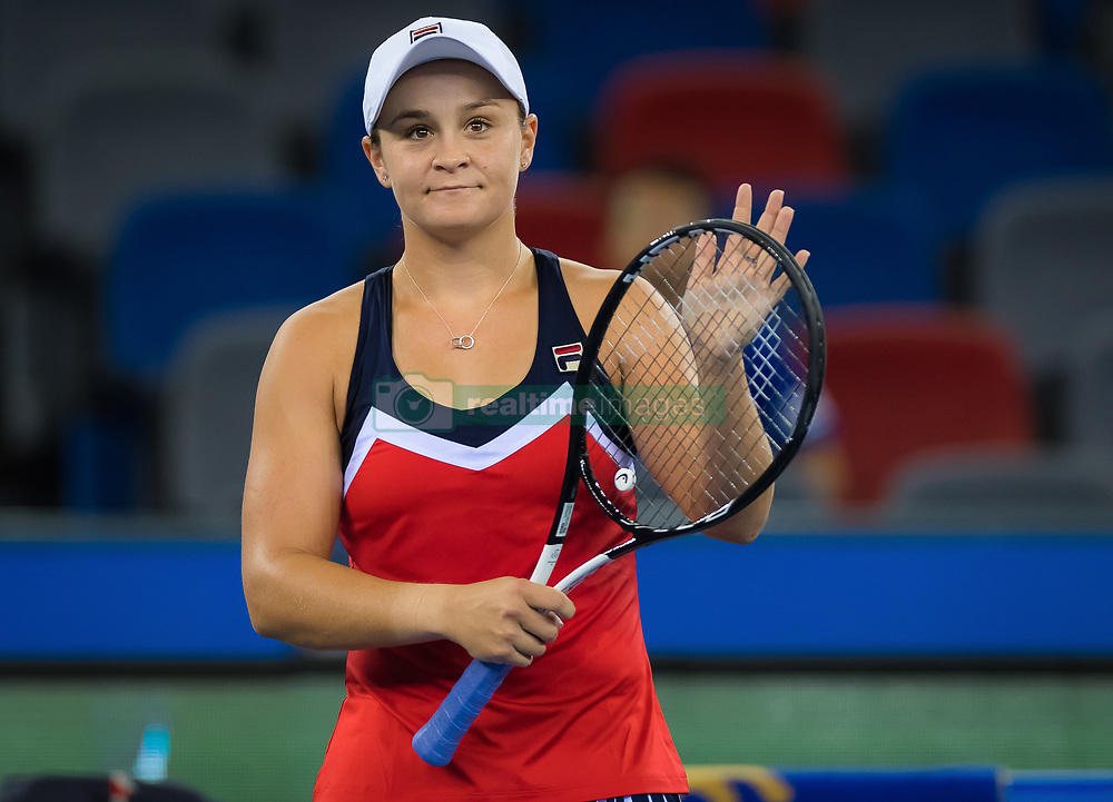 September 26, 2018 - Ashleigh Barty of Australia in action during her third-round match at the 2018 Dongfeng Motor Wuhan Open WTA Premier 5 tennis tournament (Credit Image: © AFP7 via ZUMA Wire)