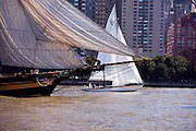 Pride of Baltimore II and Salty sailing in the New York Classic Week regatta.