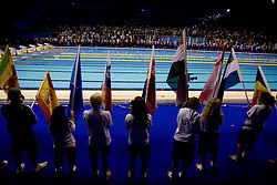 Flags of all the participating nations at the closing ceremony after the 13th FINA World Championships Roma 2009, on August 2, 2009, at the Stadio del Nuoto,  in Foro Italico, Rome, Italy. (Photo by Vid Ponikvar / Sportida)