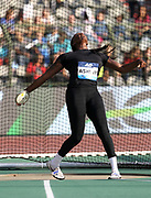 Whitney Ashley (USA) places sixth in the women's discus at 192-9 (58.75m) in the 43nd Memorial Van Damme in an IAAF Diamond League meet at King Baudouin Stadium in Brussels, Belgium on Friday,August 31, 2018. (Jiro Mochizuki/Image of Sport)