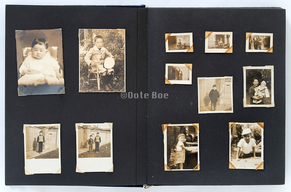 Japan 1940s 1950s 1960s family photo album