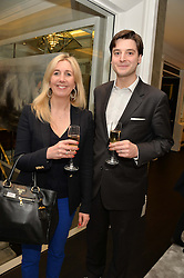 First look of the new Samsung Curved UHD TV at the Candy & Candy penthouse at No. 1 Arlington Street, London - an exclusive Samsung BlueHouse event held on 27th February 2014.<br /> Picture shows:- Barbara Simpson and Graziano Arricale
