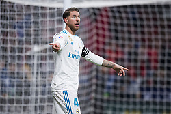November 18, 2017 - Madrid, Madrid, Spain - Sergio Ramos during the match between Atletico de Madrid and Real Madrid, week 12 of La Liga at Wanda Metropolitano stadium, Madrid, SPAIN - 18th November of 2017. (Credit Image: © Jose Breton/NurPhoto via ZUMA Press)