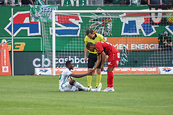 25.05.2019, Allianz Stadion, Wien, AUT, 1. FBL, SK Rapid Wien vs Cashpoint SCR Altach, Qualifikationsgruppe, 32. Spieltag, im Bild v.l. Kelvin Arase (Rapid Wien), Anderson dos Santos Gomes (SCR Altach) // during the tipico Bundesliga qualification group 32nd round match between SK Rapid Wien and Cashpoint SCR Altach at the Allianz Stadion in Wien, Austria on 2019/05/25. EXPA Pictures © 2019, PhotoCredit: EXPA/ Lukas Huter