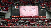 Photo: Paul Thomas.<br /> Chelsea v Manchester United. The FA Cup Final. 19/05/2007.<br /> <br /> Find Madeleine McCann appeal over the big screen.