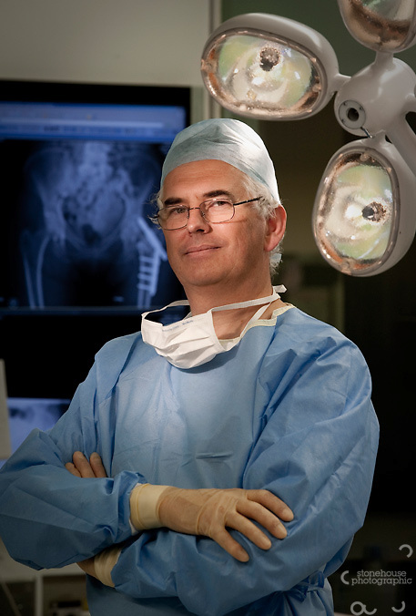 Prof James Richardson (orthopaedic surgeon) at RJAH Orthopaedic Hospital, Gobowen