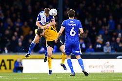 Tony Craig of Bristol Rovers challenges for the header with Tom Hopper of Southend United - Mandatory by-line: Dougie Allward/JMP - 07/12/2019 - FOOTBALL - Memorial Stadium - Bristol, England - Bristol Rovers v Southend United - Sky Bet League One