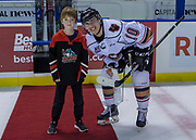 KELOWNA, CANADA - OCTOBER 13:  Third Star of the Game Jakob Stukel #10 of the Calgary Hitmen at the Kelowna Rockets game on October 13, 2017 at Prospera Place in Kelowna, British Columbia, Canada.  (Photo By Cindy Rogers/Nyasa Photography,  *** Local Caption ***