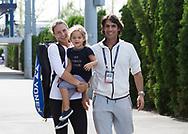 US OPEN FEATURE, TATJANA MARIA (GER)mit Ehemann/Trainer Charles Edouard Maria und Tochter Charlotte.<br /> <br /> Tennis - US Open 2017 - Grand Slam ITF / ATP / WTA -  Billie Jean King Tennis Center - New York - New York - USA  - 1 September 2017.