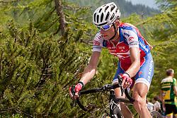 Tomaz Nose (SLO) of Adria Mobil during 3rd Stage Skofja Loka - Vrsic (170 km) at 20th Tour de Slovenie 2013, on June 15, 2013, in Skofja Loka, Slovenia. (Photo by Vid Ponikvar / Sportida.com)