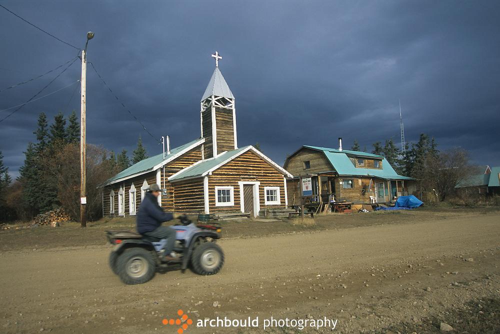 Quadding through Old Crow, Yukon