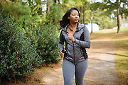 "PINE APPLE, AL – NOVEMBER 17, 2015: Pam Moton, 30, walks on a trail behind the Pine Apple Health Center. ""When you're in the country like this,"" Moton said, ""people think it's normal to be big and have high blood pressure. I'm just trying to stay healthy. I try to walk everyday. It's something I've always been about."" After decades of the relentless spread of diabetes in the United States, federal data now show that the number of new cases has finally started to decline. On December 1, 2015, the Centers for Disease Control and Prevention published figures showing three consecutive years of decline in new cases, between 2012 and 2014.<br />