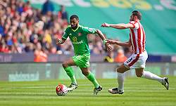 STOKE-ON-TRENT, ENGLAND - Saturday, April 30, 2016: Sunderland's Yann M'Vila in action against Stoke City during the FA Premier League match at the Britannia Stadium. (Pic by David Rawcliffe/Propaganda)