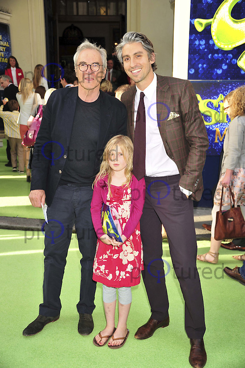 Larry and George Lamb Shrek The Musical press night, Theatre Royal, Drury Lane, London, UK, 14 June 2011:  Contact: Rich@Piqtured.com +44(0)7941 079620 (Picture by Alan Roxborough)