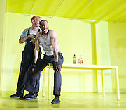 The Hairy Ape <br /> by Eugene O'Neill <br /> at the Old Vic Theatre, London, Great Britain <br /> press photocall<br /> 27th October 2015 <br /> <br /> Bertie Carvel as Yank <br /> <br /> Adam Burton as Secretary <br /> <br /> Buffy Davis as Aunt <br /> <br /> Callum Dixon asThe Hairy Ape <br /> by Eugene O'Neill <br /> at the Old Vic Theatre, London, Great Britain <br /> press photocall<br /> 27th October 2015 <br /> <br /> Bertie Carvel as Yank <br /> <br /> <br /> <br /> Photograph by Elliott Franks <br /> Image licensed to Elliott Franks Photography Services  Long <br /> <br /> Nicholas Karimi as Second Engineer<br /> <br /> Steffan Rhodri as Paddy <br /> <br /> Rosie Sheehy as Mildred <br /> <br /> <br /> Photograph by Elliott Franks <br /> Image licensed to Elliott Franks Photography Services
